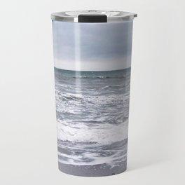 Cloudy Day on the Beach Travel Mug