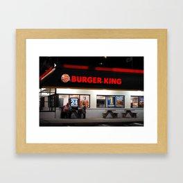 The Real Burger King Framed Art Print