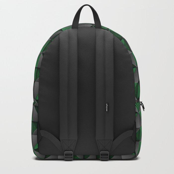 Tech Mosaic Green Backpack