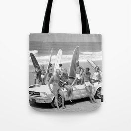 Vintage Beach Party Mustang Tote Bag