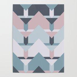 Scandi Waves #society6 #scandi #pattern Poster