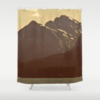 diablo Shower Curtains featuring The warmth of Diablo Lake by jordanwlee.com