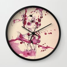 Spotted kitty fawn Wall Clock