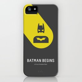 Flat Christopher Nolan movie poster iPhone Case