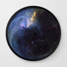 The Bubble Nebula Wall Clock