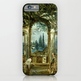 "Diego Velázquez ""View of the Garden of the Villa Medici in Rome (The Sleeping Ariadne)"" iPhone Case"