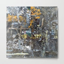 Fragmented Thoughts Abstract Painting on Metal Metal Print