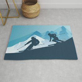 Let's Ski • Winter Sport • Christmas Special Rug