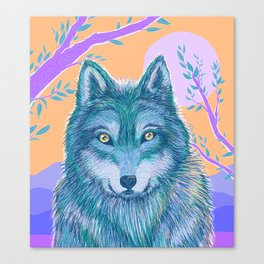 Wolf and Desert 2 Canvas Print