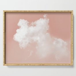 Floating Cotton candy in blush pink Serving Tray