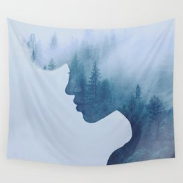 double exposure Wall Tapestry