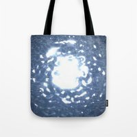 stargate Tote Bags featuring Event Horizon - Stargate by Geek Bias