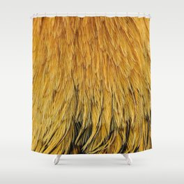 Fancy Rooster Feathers Shower Curtain