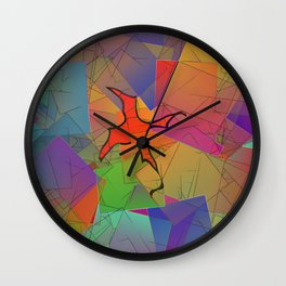 2506 Little cubistic phoenix ... Wall Clock