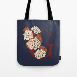 Letter G for Geranium Tote Bag
