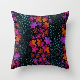 Dark Watercolor Throw Pillow