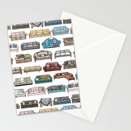 TV Couches Stationery Cards