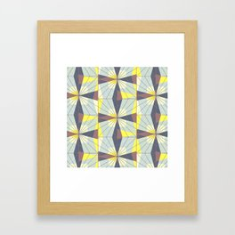It's complicated. Bold geometric pattern in marsala, yellow and charcoal. Framed Art Print