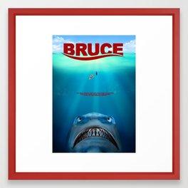 Finding Nemo inspired Jaws film poster Framed Art Print