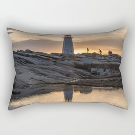 Peggys Point sunset walk Rectangular Pillow
