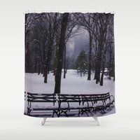 central park Shower Curtains featuring Central Park by Leah Moloney Photo