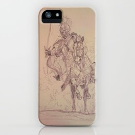 Knight through the Dust iPhone Case