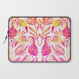 Tropical Toucans – Pink & Melon Ombré Laptop Sleeve