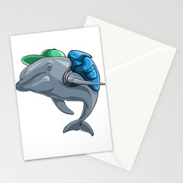 Dolphin Back to School Kids Pre-School Elementary Stationery Cards