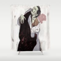 fight Shower Curtains featuring Fight. by Augustus