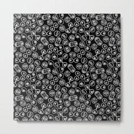 Mitosis - White on Black Metal Print