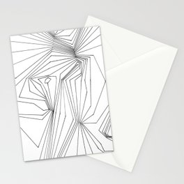 Confinement   Black Ink on White Geometric Drawing Stationery Cards