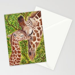 Giraffe and Calf Stationery Cards