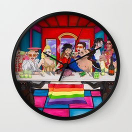 The Rockstars Last Supper Wall Clock