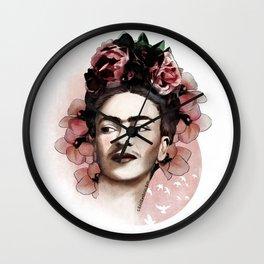 Frida Kahlo illustration Wall Clock