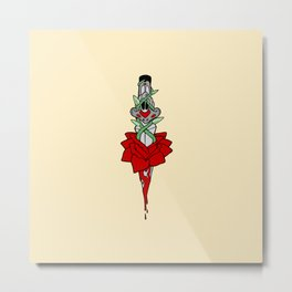Rose Dagger Metal Print