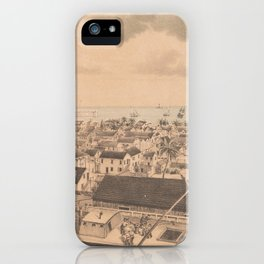 Vintage Pictorial Map of Key West FL (1855) iPhone Case
