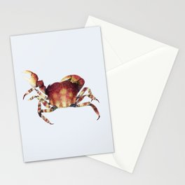 Crab watercolor illustration Stationery Cards