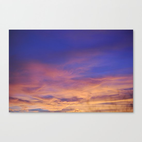 COME AWAY WITH ME - Autumn Sunset #1 #art #society6 Canvas Print
