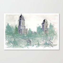 Manti Temple Canvas Print