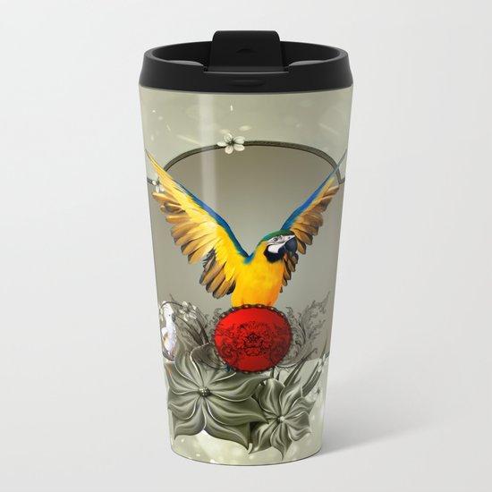 Wonderful parrots Metal Travel Mug