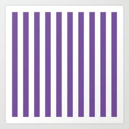Vertical Purple Stripes Art Print