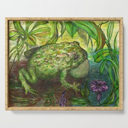 Rain Forest Toad Serving Tray
