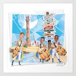 Uruguay Art Print