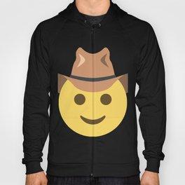 Cowboy Smiley Face Emoji Hoody