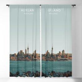 Auckland, New Zealand Travel Artwork Blackout Curtain