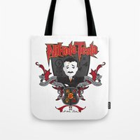 tesla Tote Bags featuring Nikola Tesla by Spectacle Photo