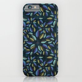 Duo-Toned Leaf pattern 1 (Purple/Gold) iPhone Case