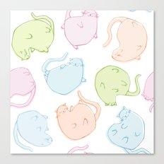 Cat Blobs Cats Canvas Print