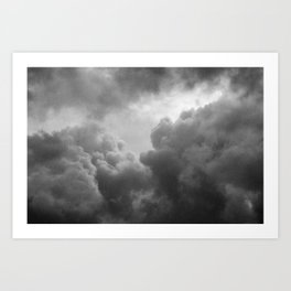 Grainy Cloud Art Print