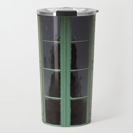 green window shutters Travel Mug